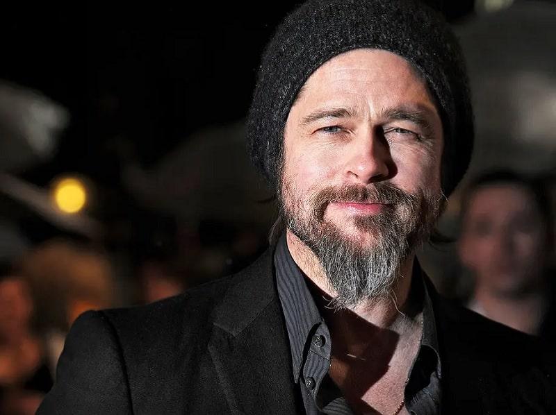 Brad Pitt ducktail beard