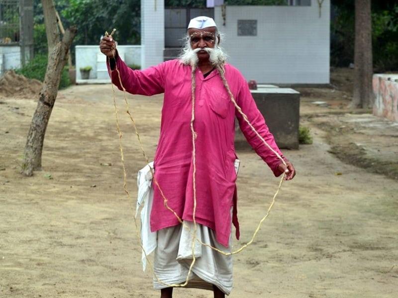 world's longest mustache - Ramesh Chand Kushwaha