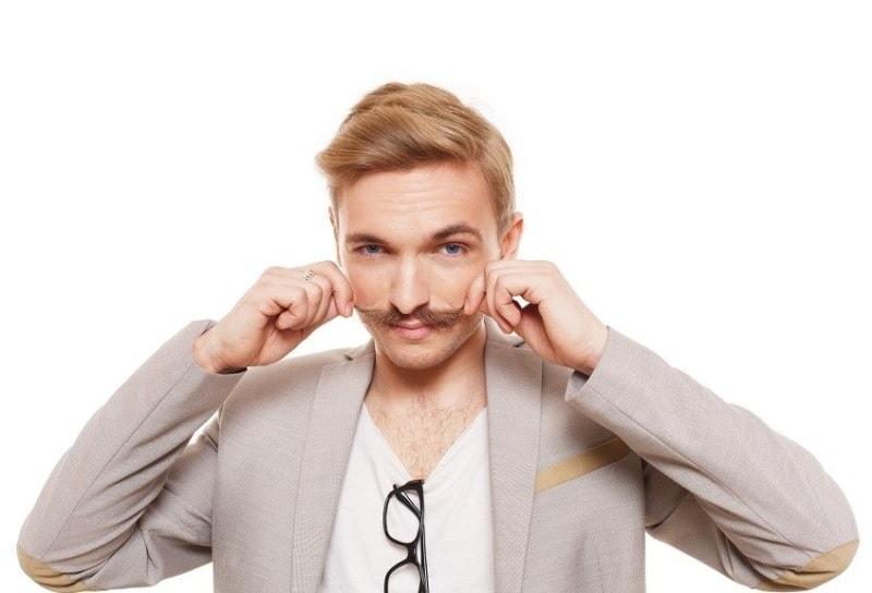 blonde mustache for guys