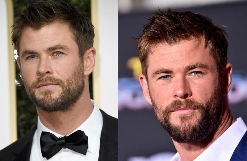 Chris Hemsworth's Short Beard Style