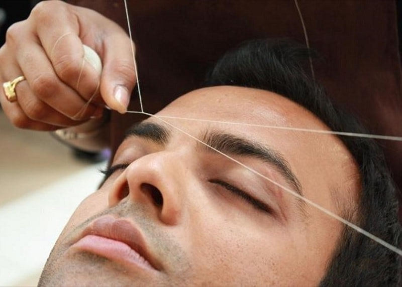 facial hair threading