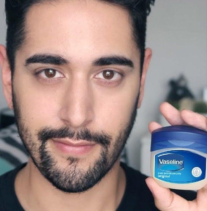 vaseline for beard dye