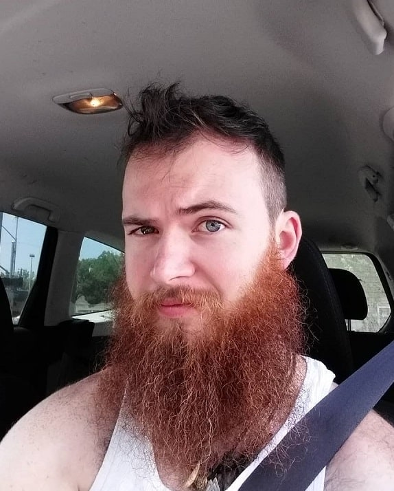 full red beard with brown hair