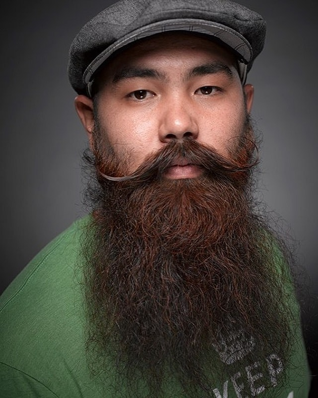chinese beard with mustache