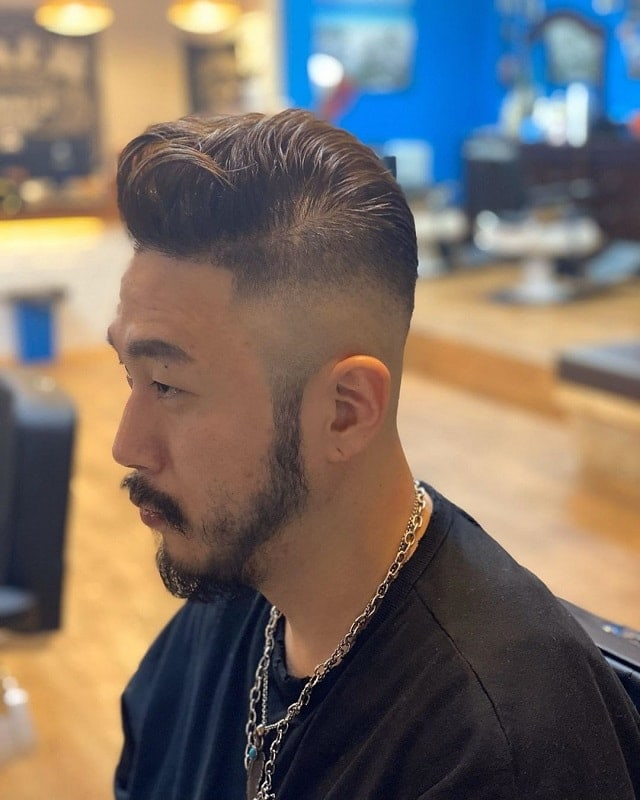 asian fade with beard