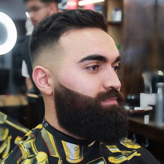 bald fade with full beard