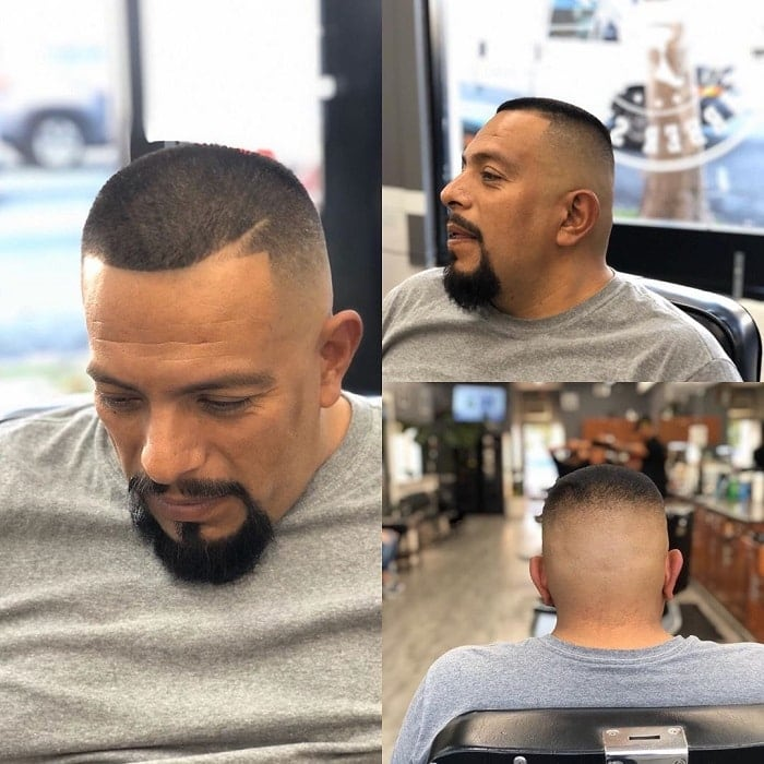 fade haircut with goatee beard