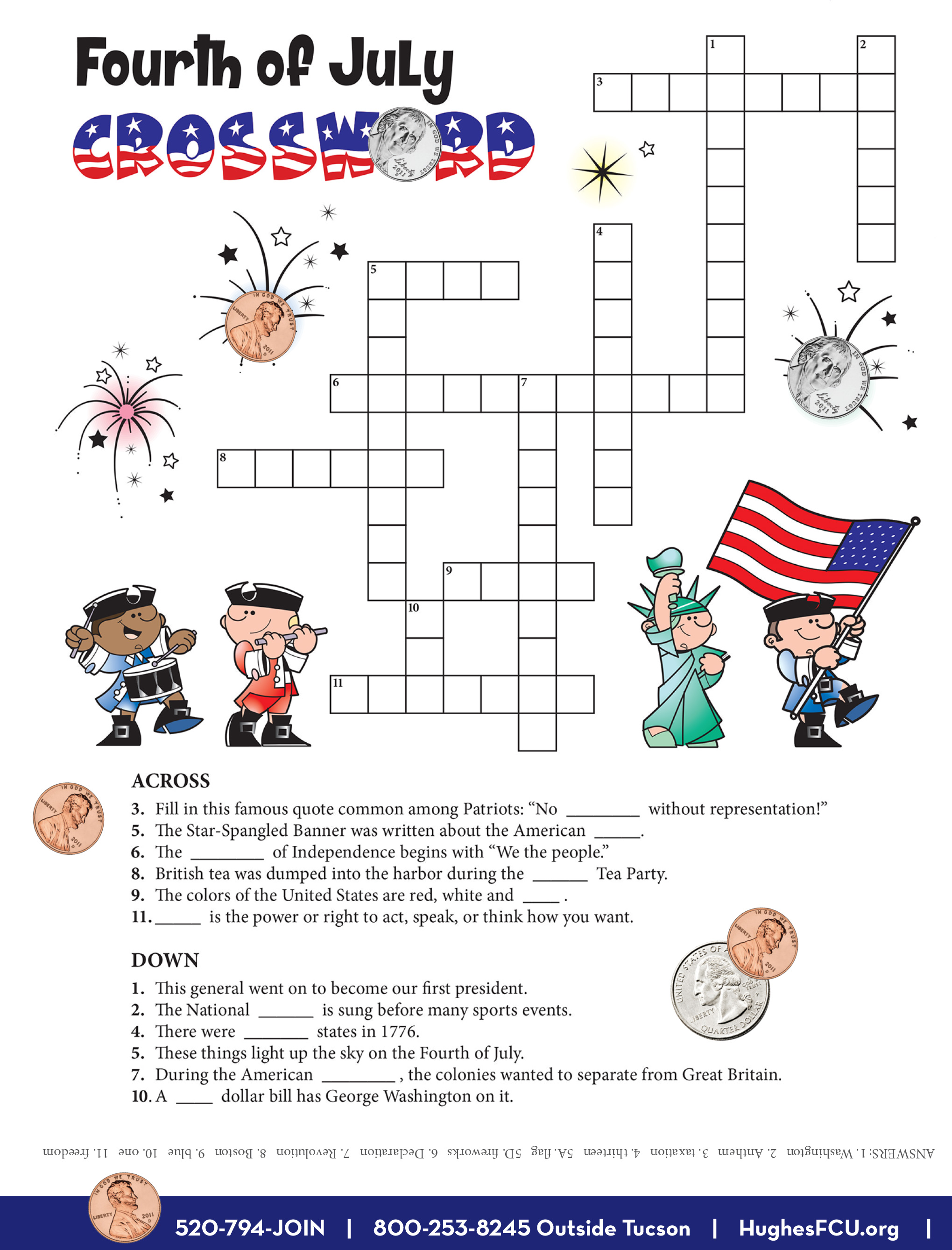 Try Your Luck With Fourth Of July Crossword