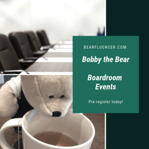 Bobby the Bear Boardroom events for content creation and monetization.