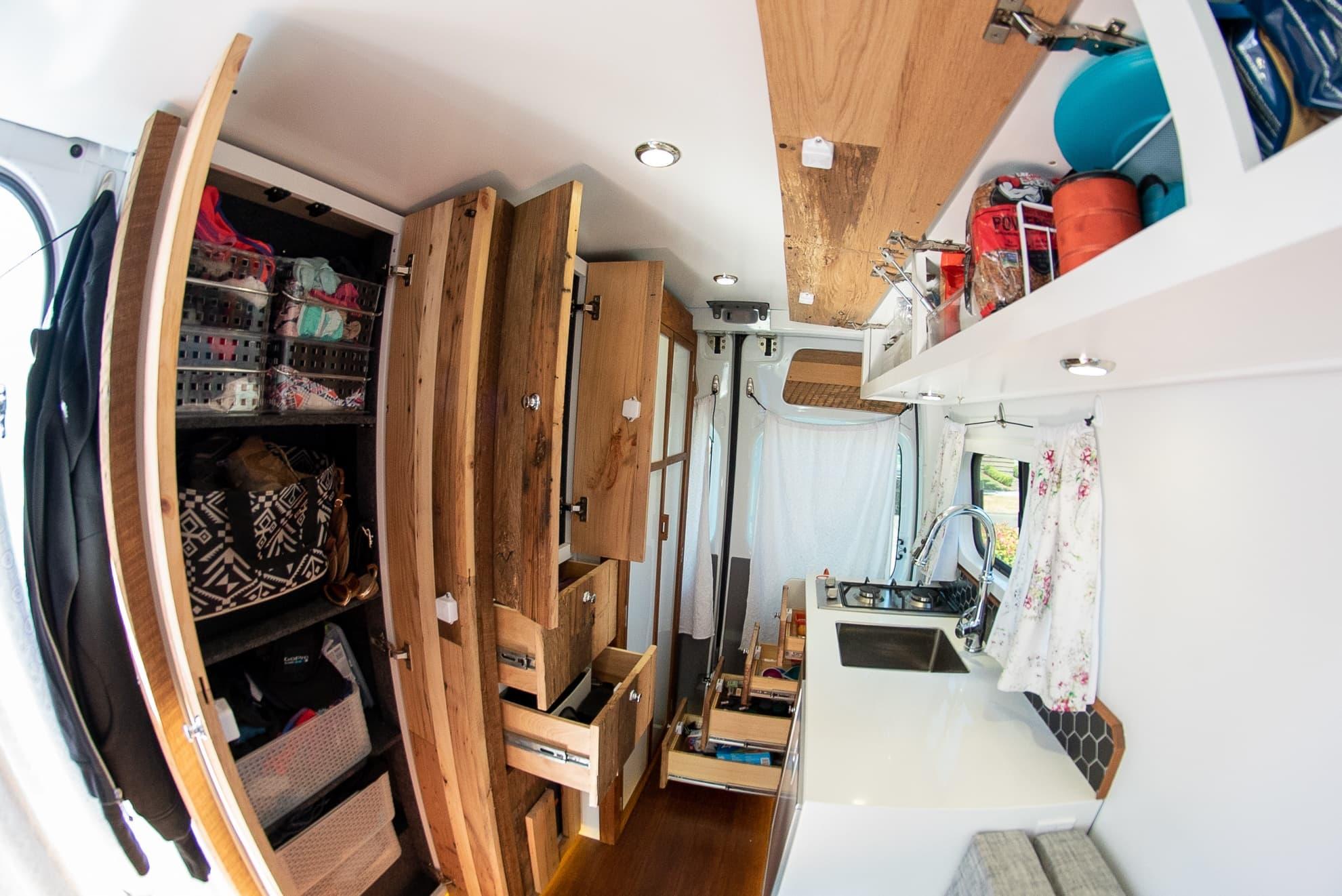 van cabinets tables storage options