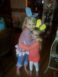 two cute bunnies