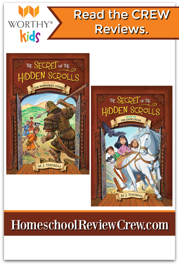 The Secret of the Hidden Scrolls series follows siblings Peter and Mary and their dog, Hank, as they discover ancient scrolls that transport them back to key moments in biblical history.