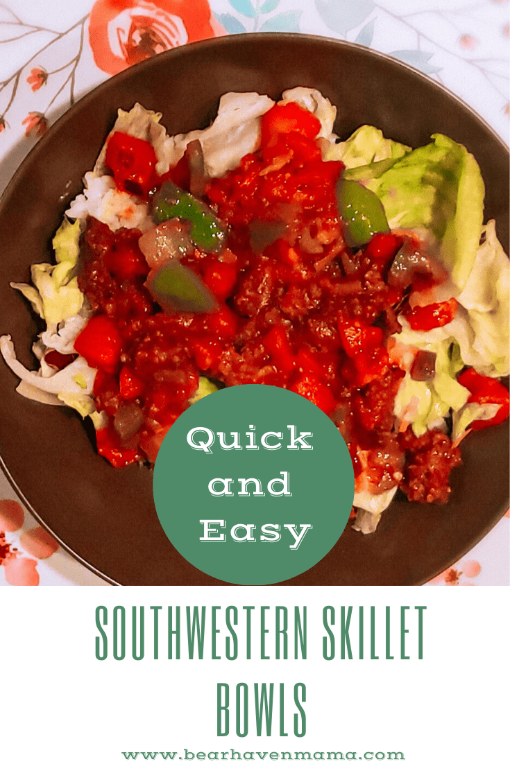 This Healthy, Easy, Gluten- Free One-Pot Southwestern Skillet Bowls recipe will be a hit with your family and takes less than 30 minutes to make.