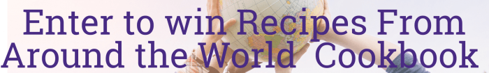 Enter to win Recipes from around the world cookbook from Operation Blessing