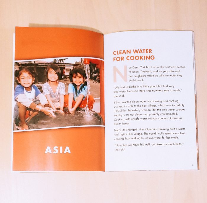 Support a good cause and get recipes that originated from 15 countries with the Operation Blessing: Recipes From Around The World cookbook.