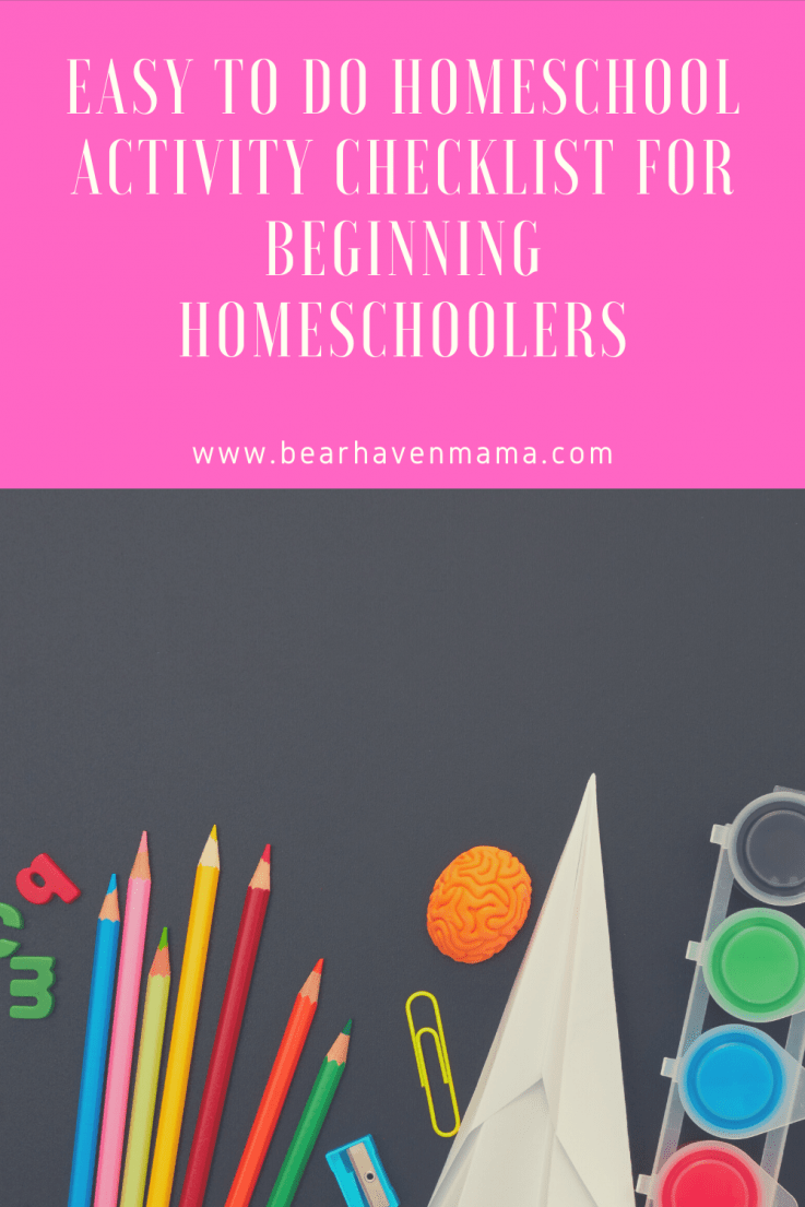 This easy to do homeschool checklist provided easy to do activities to keep children busy and learning. Great for beginning and veteran homeschool families!