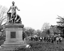"""And as we walked past old Abe on the way to the march I can't help wonder if he was thinking """"I can't believe they still have to protest this shit"""" #BlackLivesMatter #WomensMarch #Resistance"""