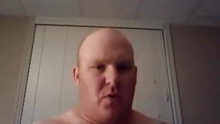 Chunky daddy bear having a hot orgasm