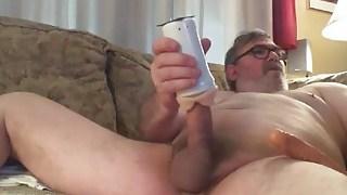 Dad's Ass Play and Cum