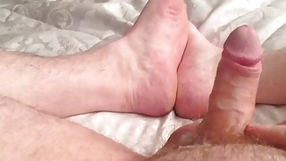 Foot cum closeup
