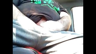Greek Bear Wanking in the Car