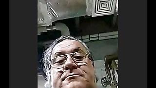 latin grandpa wanking and cumming