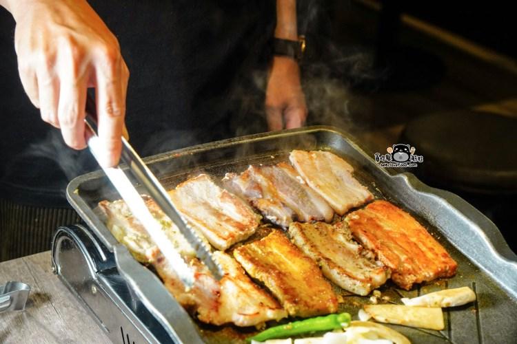 高雄中秋節聚會餐廳 牧穀韓式烤肉-專人幫忙烤肉,符合政府規定會在協助分食