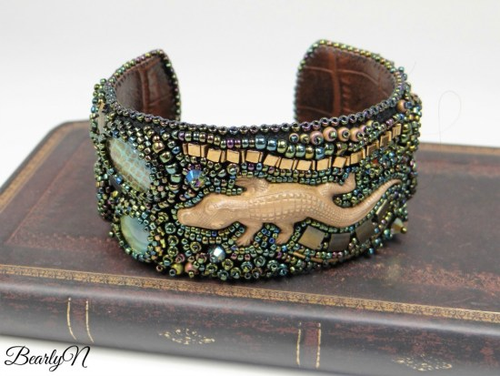 "Bracelet brodé alligator ""See You Latter"""