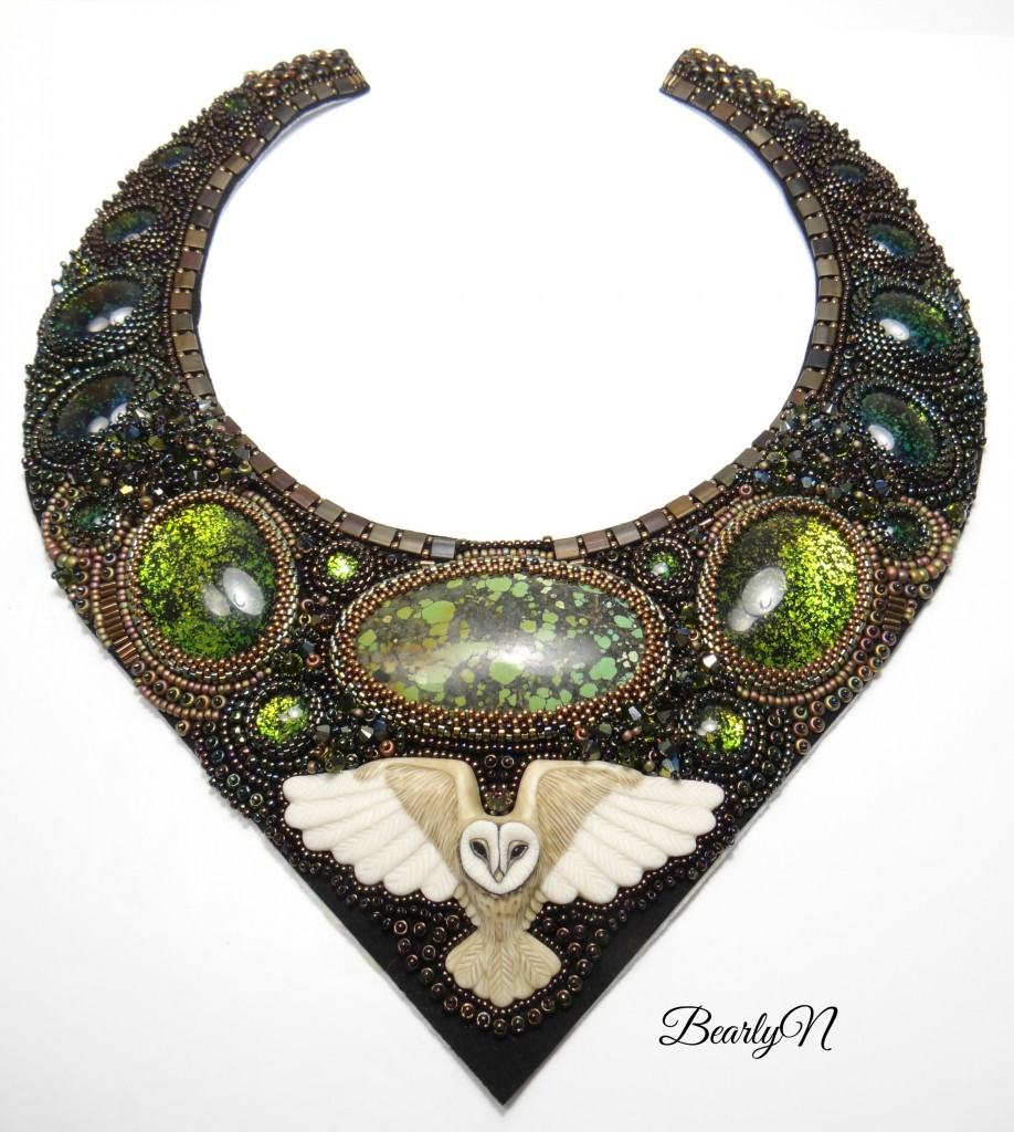 bead embroidery, broderie finie