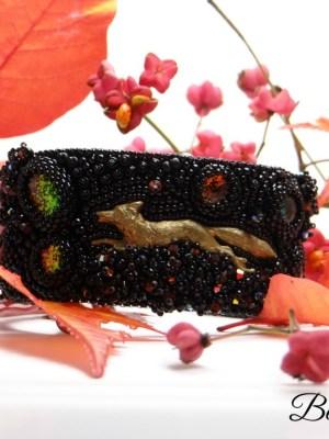 bracelet manchette renard