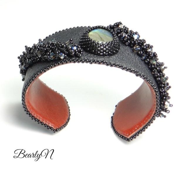 bracelet labradorite, vue trois quart haut