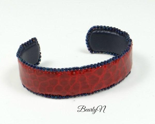 bracelet crocodile rouge_BearlyN