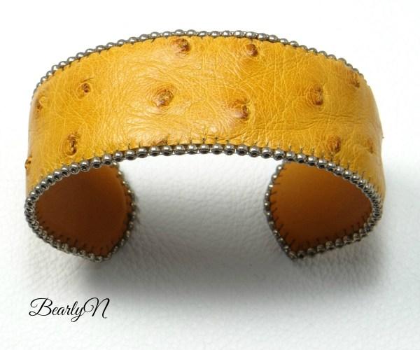 bracelet autruche fauve_BearlyN