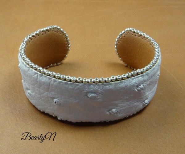 bracelet autruche blanc_BearlyN