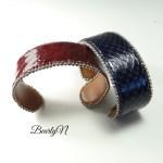 Bracelets serpent bleu ou rouge