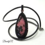 Collier pendentif Rhodonite_BearlyN