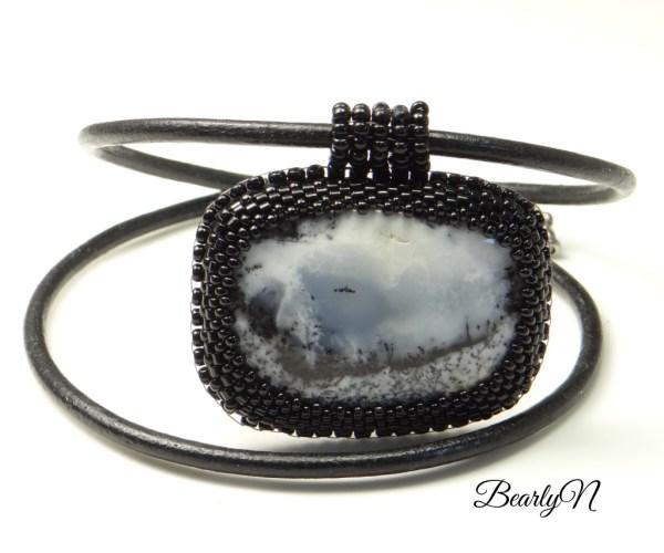 Collier pendentif agate dentritique_BearlyN