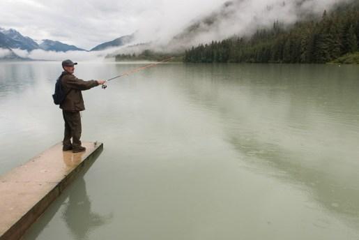 Fishing at Chilkoot Lake