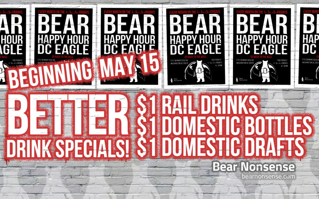 Bear Nonsense Bear Happy Hour at DC Eagle Tonight!