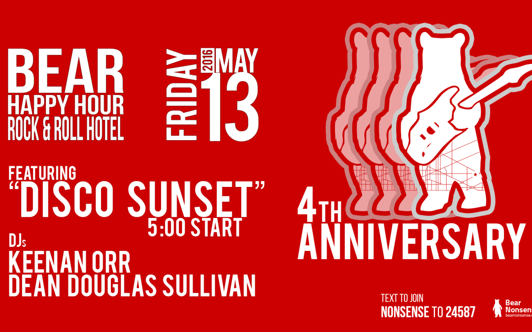 BHH at Rock & Roll Hotel – 4th Anniversary May 13 feat. DJ Keenan Orr & Dean Douglas Sullivan