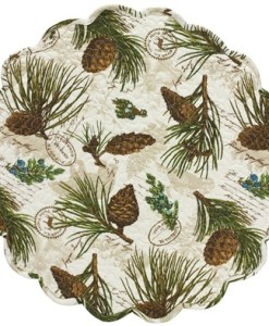 """Walk in the Woods 17"""" Round Placemat"""