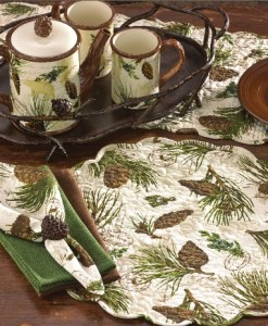 Walk in the Woods Placemat and Table Runners