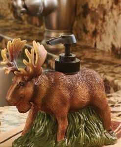 Moose Resin Soap Lotion Dispenser
