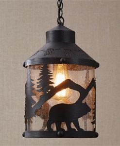 Black Bear Pendant Light