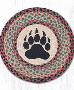 "Bear Paw 15"" Round Placemat"