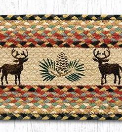 """Deer and Pinecone 8.25"""" x 27"""" Braided Stair Tread"""