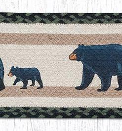 "Mama and Baby Bear 8.25"" x 27"" Braided Stair Tread"