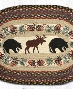 "Bear & Moose 13"" x 19"" Braided Placemat"