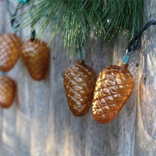 Pinecone Indoor/Outdoor String Lights
