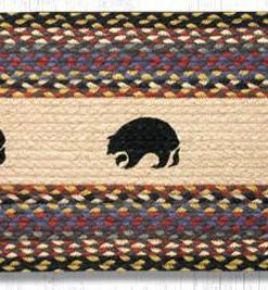 """Black Bears 13"""" x 36"""" Braided Runner"""